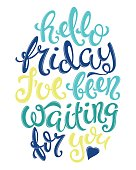 Hello friday poster