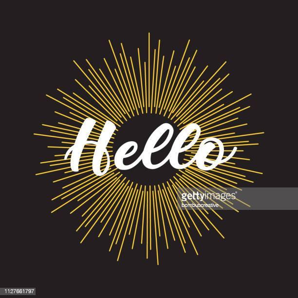 hello icon - thanks quotes stock illustrations