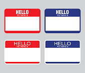 """Hello my name is"" label sticker. vector"