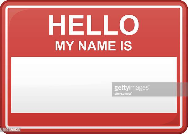hello my name is - security pass stock illustrations, clip art, cartoons, & icons