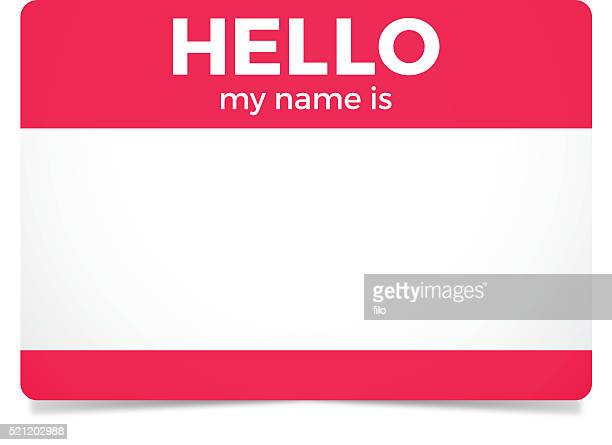hello my name is - verification stock illustrations, clip art, cartoons, & icons