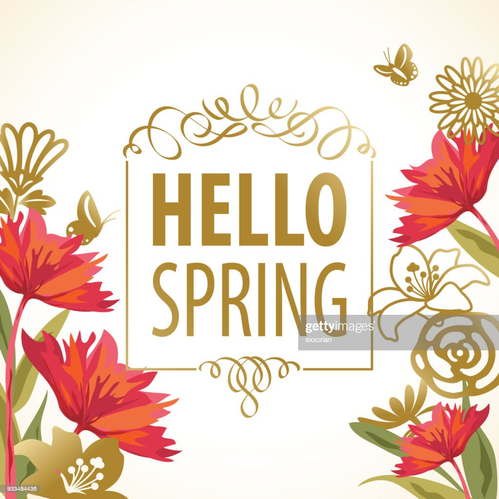 Design With Spring Flowers Background. Royalty Free Cliparts, Vectors, And  Stock Illustration. Image 96488397.