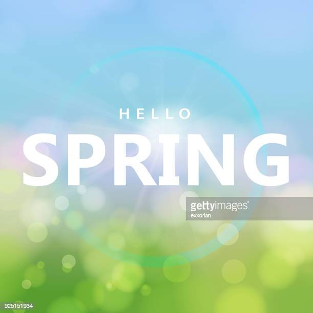 Hello Spring with Sunshine