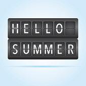 Hello summer departure board