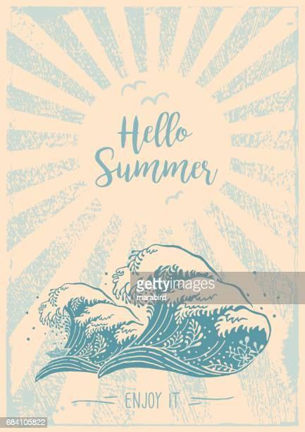 Hello Summer Enjoy It Big Wave