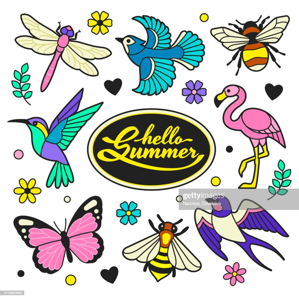 Hello Summer patches collection.