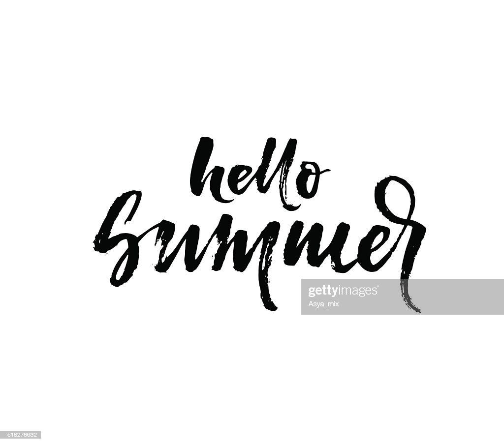 Hello summer phrase.