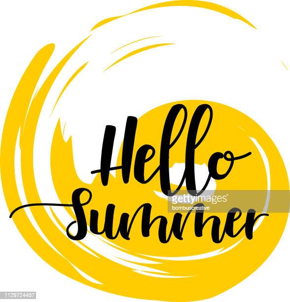 hello summer - summer stock illustrations