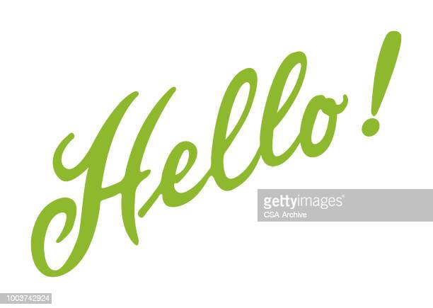 hello! - greeting stock illustrations