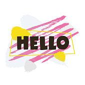 Hello! Vector illustration.