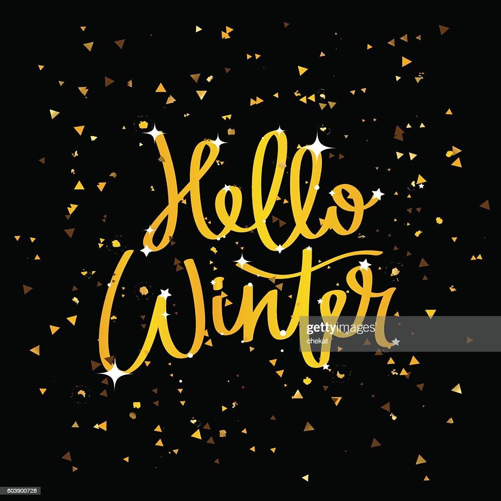Hello Winter. Trend calligraphy