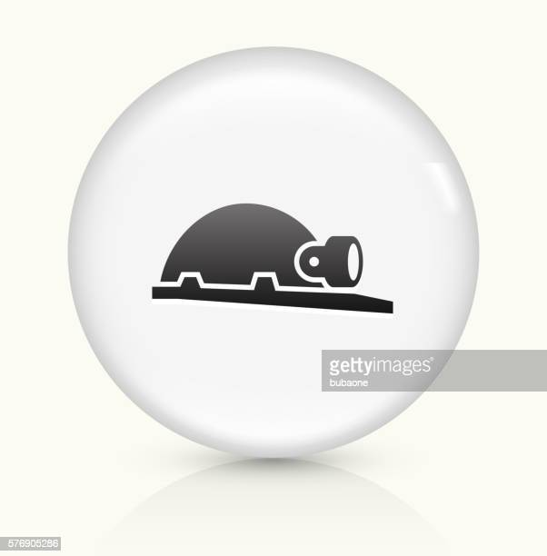 Helmet and Headlamp icon on white round vector button