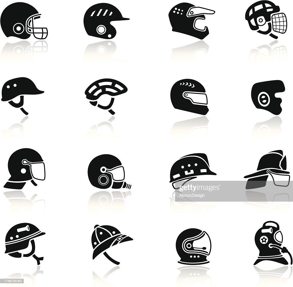 Helmet Icon Set