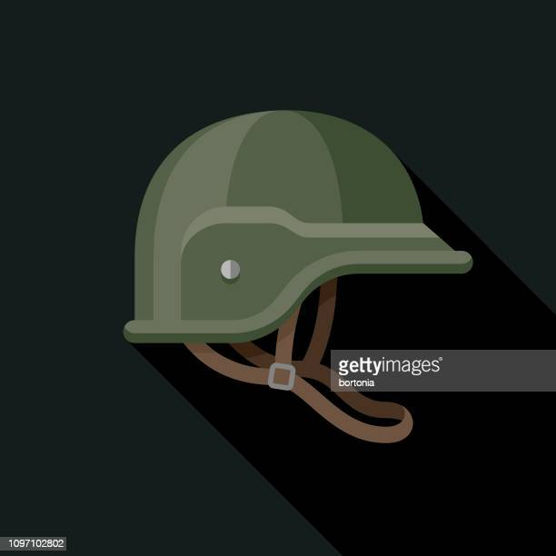 helmet military icon - army helmet stock illustrations