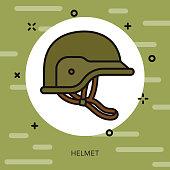 Helmet Military Icon