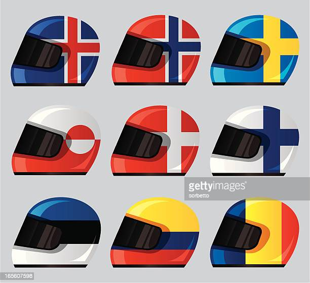 helmet national flag icon - motorcycle helmet stock illustrations, clip art, cartoons, & icons