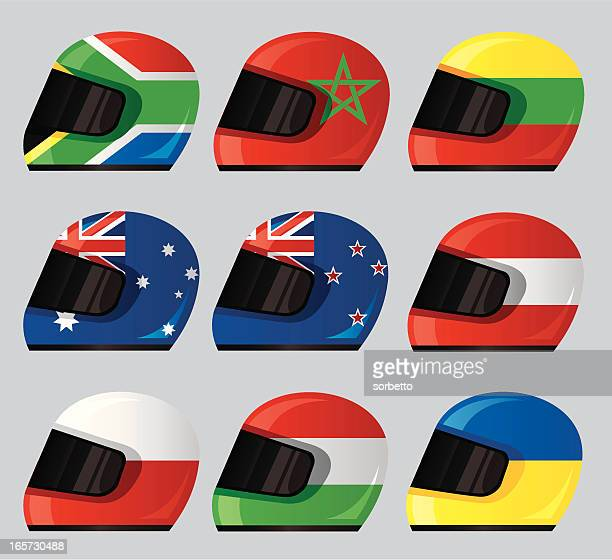 Helmet National Flag Icon