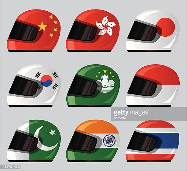 Helmet National Flag Icon