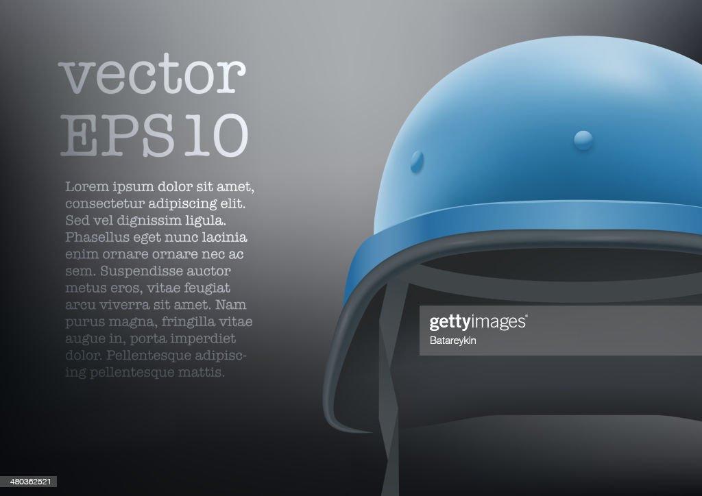 helmet of United Nations vector background