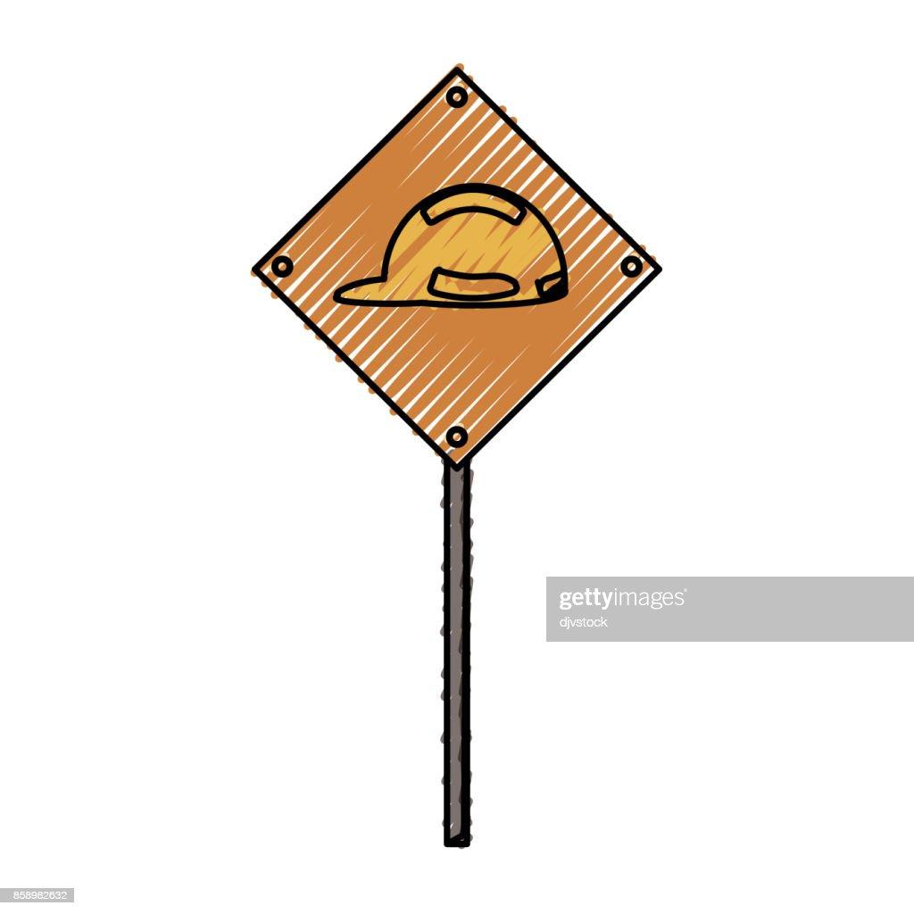 helmet use  signal  vector illustrati