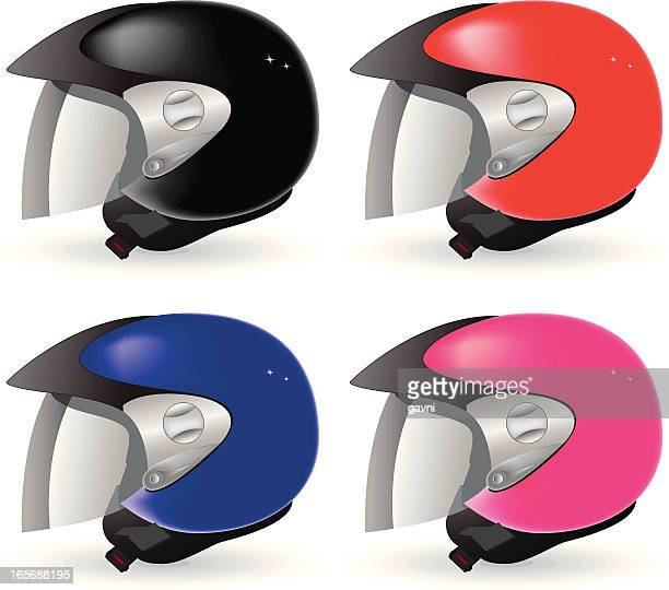 helmet - motorcycle helmet stock illustrations, clip art, cartoons, & icons