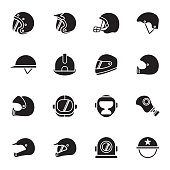 Helmets and masks icons