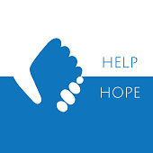 Help and hope icon graphic design