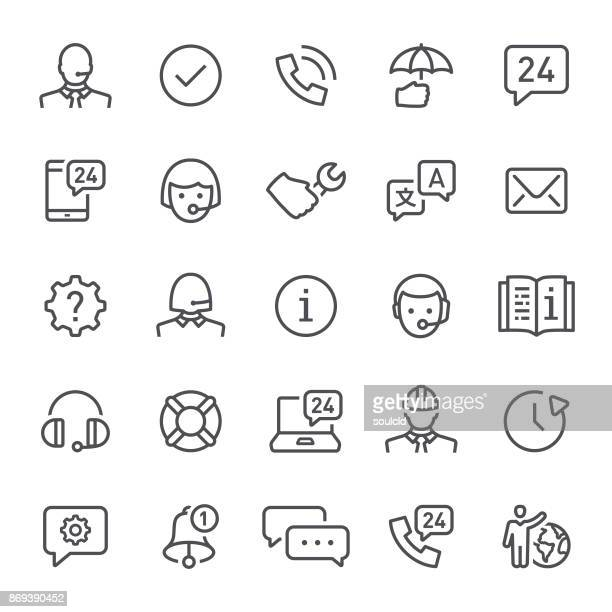 help and support  icons - information medium stock illustrations