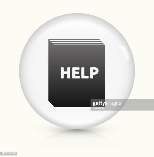 Help Book icon on white round vector button