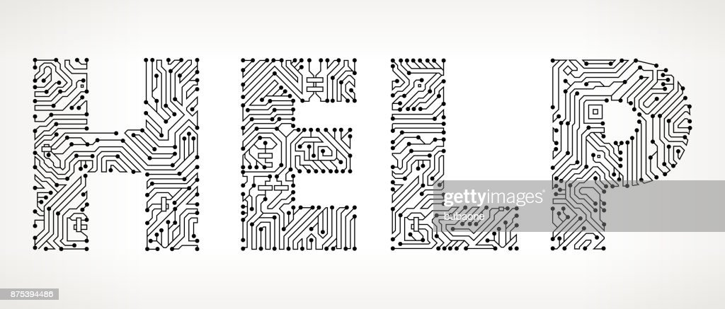 Help Circuit Board Vector Buttons Vector Art | Getty Images
