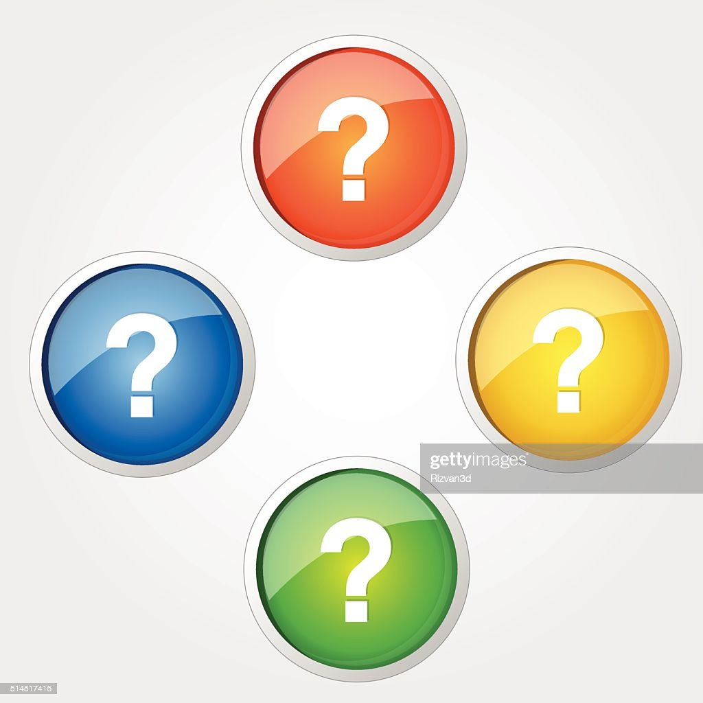 Help Circular Vector Colorful Web Icon Set Button
