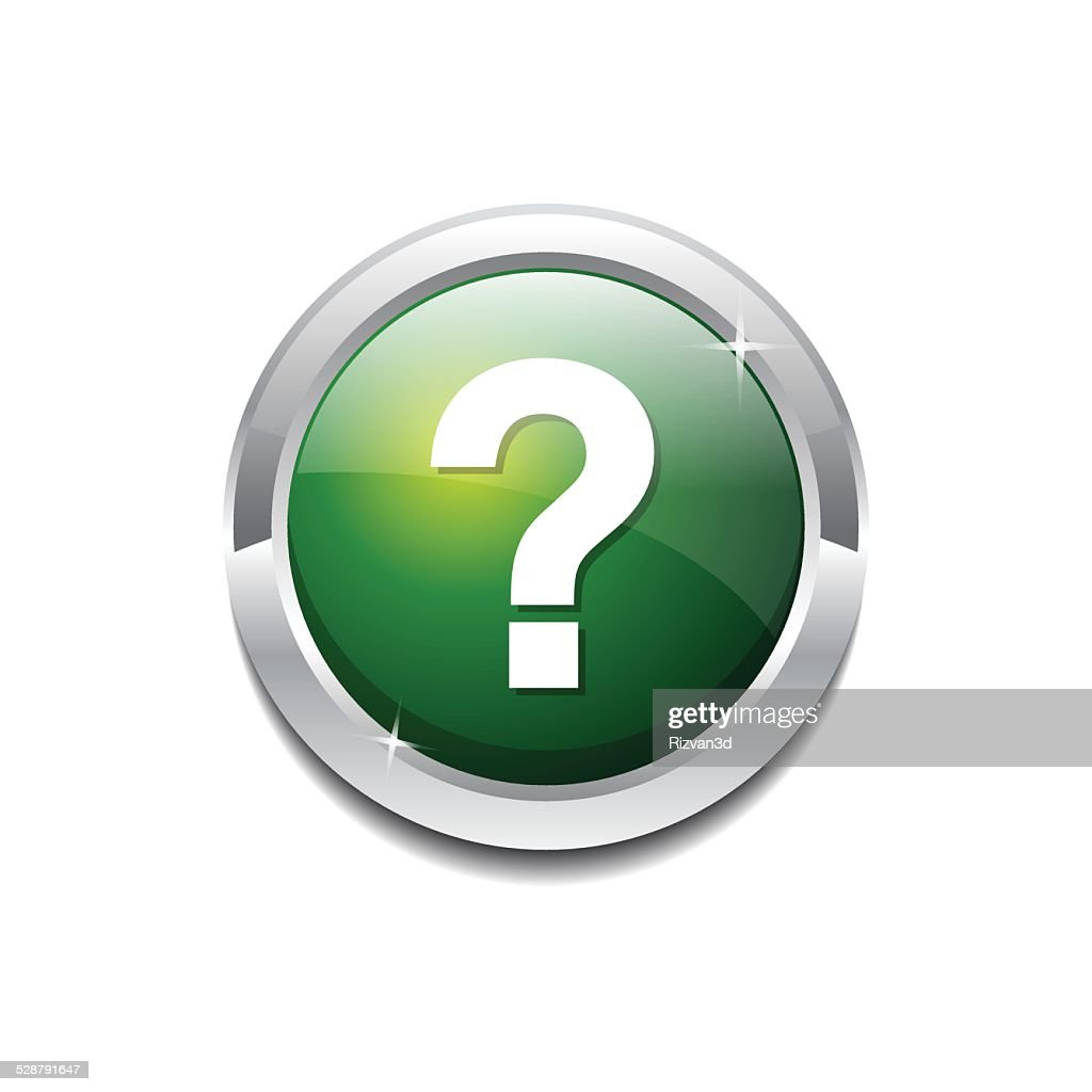 Help Circular Vector GreenWeb Icon Button