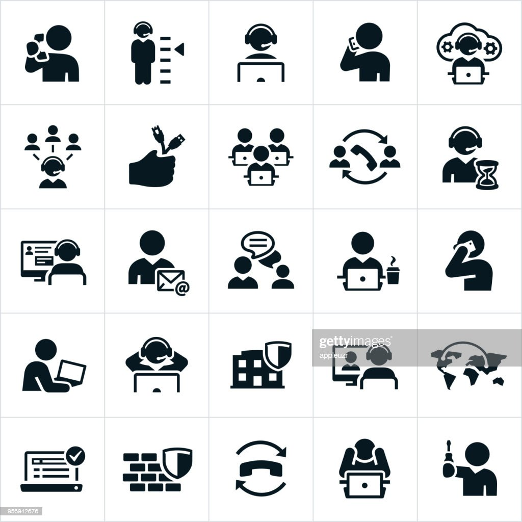 Help Desk Icons : stock illustration
