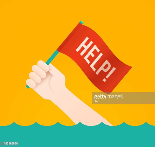 help flag person needing rescue or drowning - {{asset.href}} stock illustrations