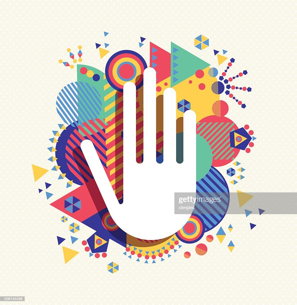Help Hand icon concept color shape background