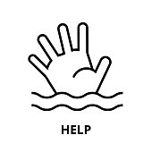 Help icon, for graphic and web design