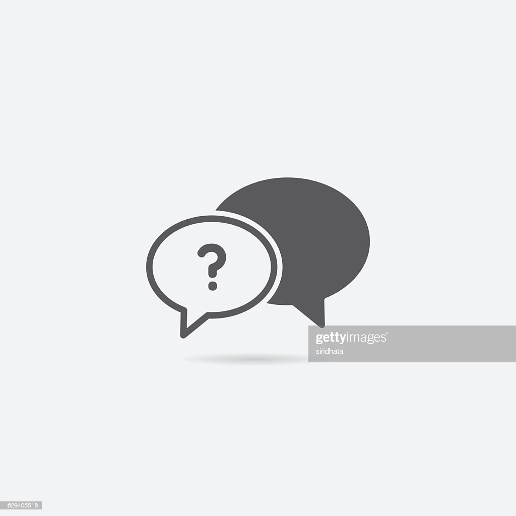 Help or Frequently Asked Questions Chat Bubble Icon