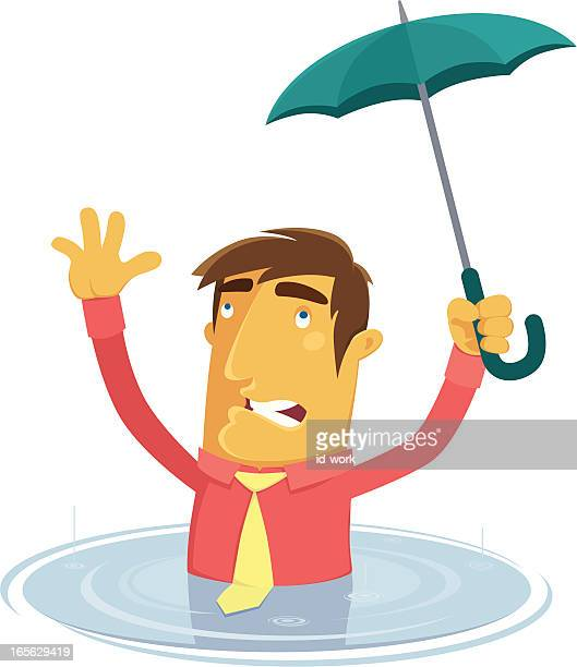 help... - puddle stock illustrations, clip art, cartoons, & icons