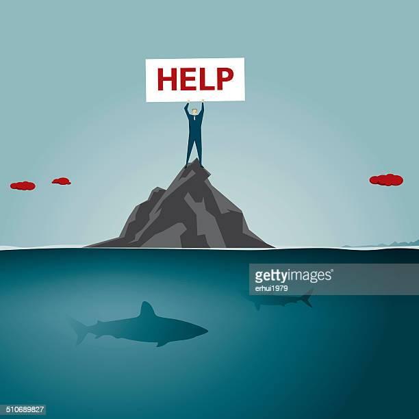 help - remote location stock illustrations