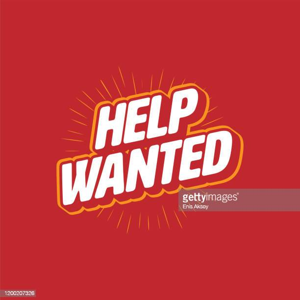 help wanted lettering - help wanted sign stock illustrations
