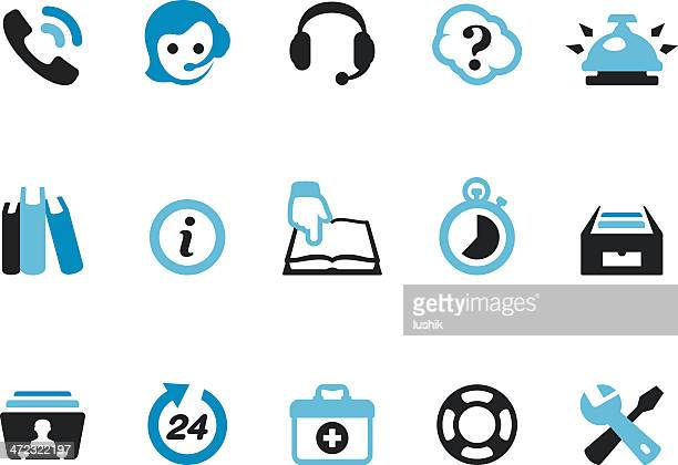 helpdesk / coolico icons - rolodex stock illustrations, clip art, cartoons, & icons
