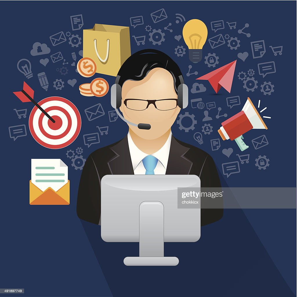 helpdesk or assistant : stock illustration