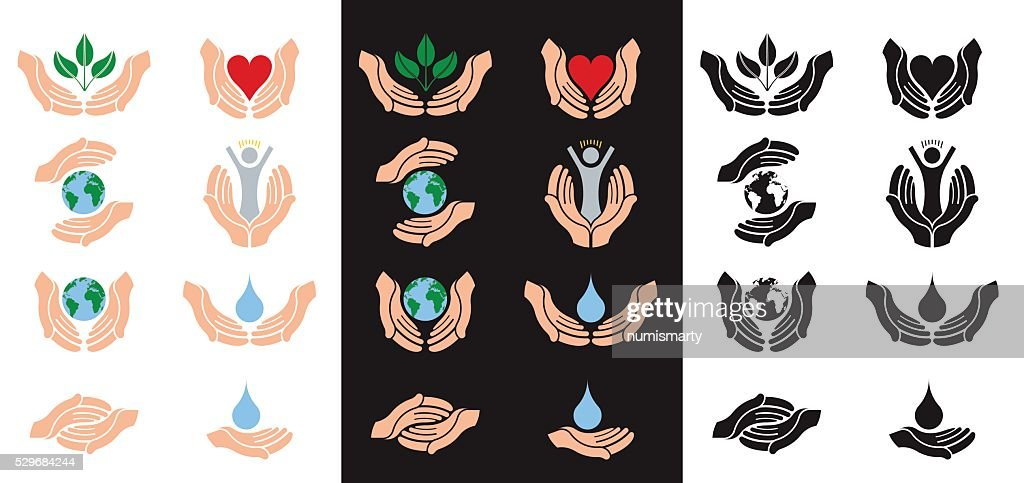 helping and protecting hands