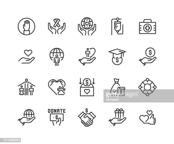 helping hand, charity, volunter, donation, care icon design - fundraising stock illustrations