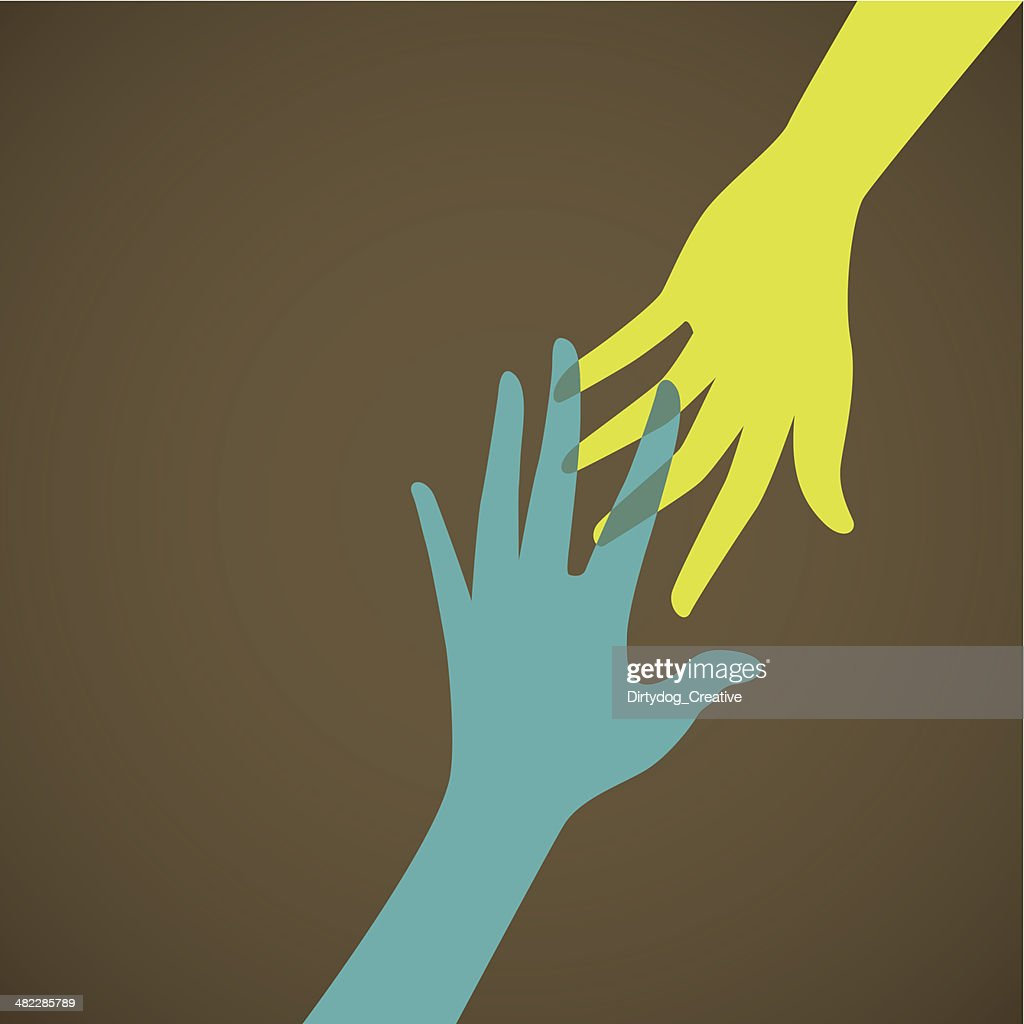 Helping hand, support, care or charity concept : Vector Art
