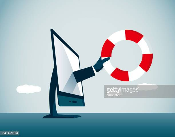 a helping hand - buoy stock illustrations, clip art, cartoons, & icons