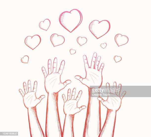 helping hands - altruism stock illustrations