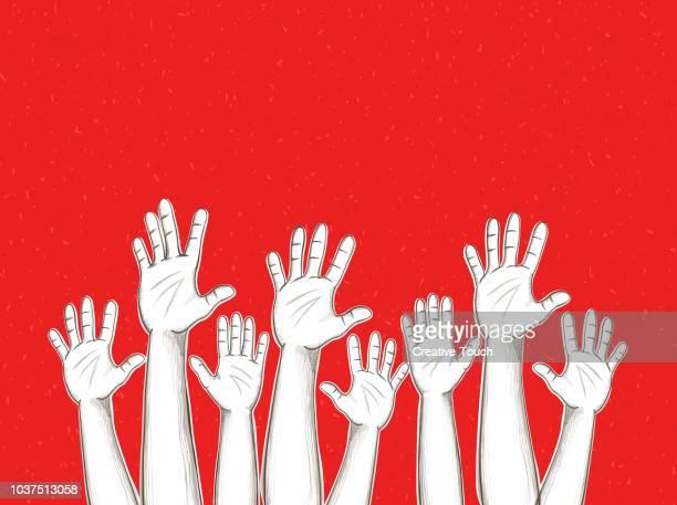 helfende hände - gewerkschaft stock-grafiken, -clipart, -cartoons und -symbole