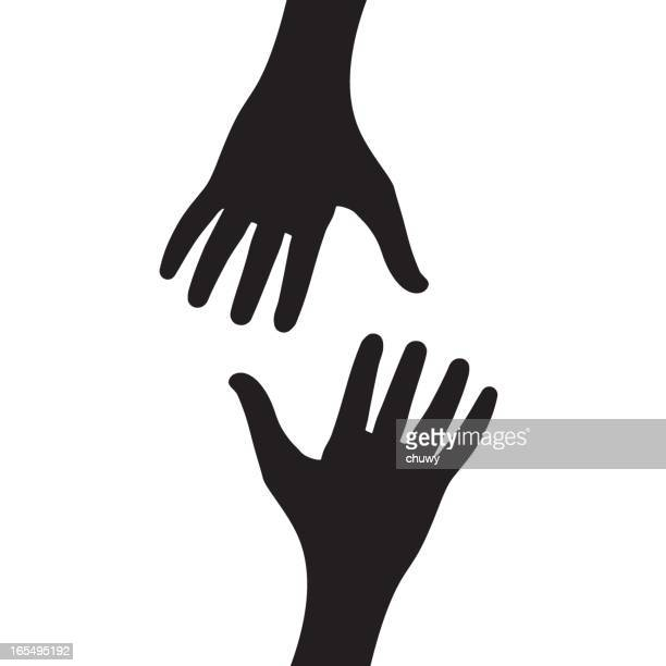 helping hands - reaching stock illustrations