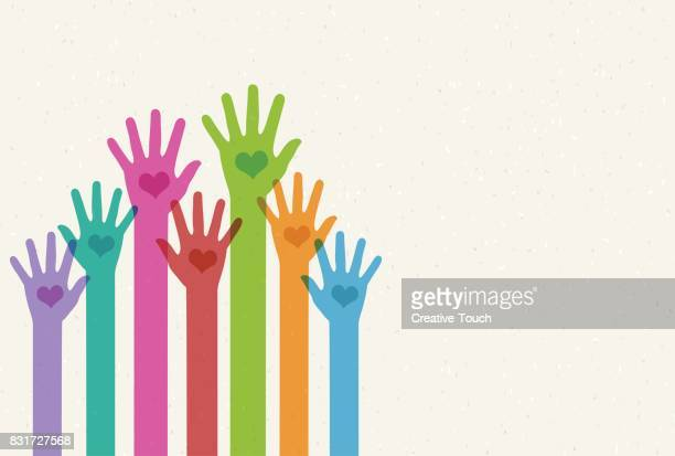 helping hands - hand stock illustrations